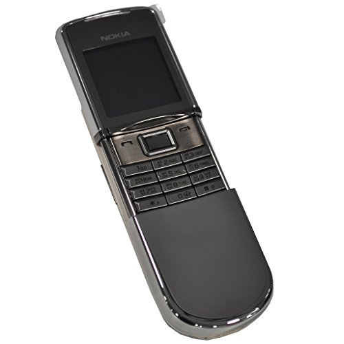 Nokia 8800D Sirocco (English + Russian Keyboard) - 128MB (GSM only, No CDMA) Factory Unlocked 2G GSM Collector's Item Cell Phone - International Version with No Warranty (Silver) (Nokia Keypad Unlocked Mobile)