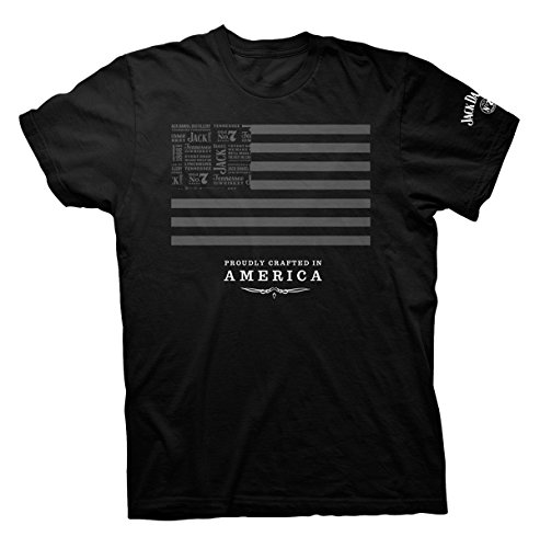 Jack Daniels Men's SS Jack and Stripes Short Sleeve T-Shirt 15261453JD-89