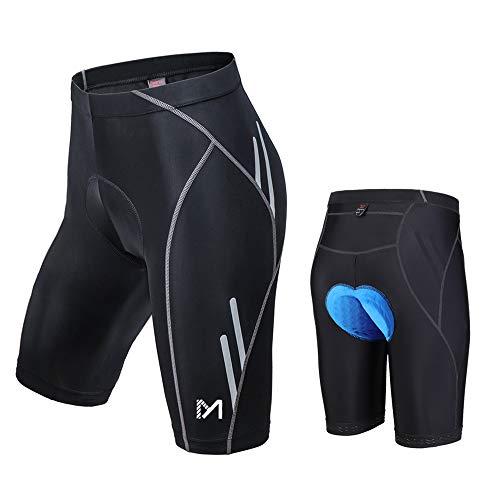 MEETYOO Men's Cycling Shorts, 3D Padded Bike Shorts, Quick Dry Breathable Riding Underwear Half Pants Tights Leggings (Black, Medium) ()