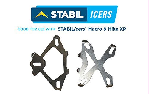 STABILicers Macro Cleat Pack 1/2 Stainless Steel Ice Cleats For Snow, Ice, Rain, Outdoors, Winter, Slippery Terrain/Trails, Replacement Cleats Compatible with Hike XP and Hike Macro, OS by STABILicers