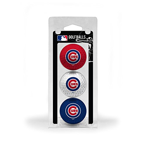 MLB Chicago Cubs 3 Golf Ball - Cubs Chicago Logos