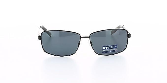 INVU B1504A 094 Lunette de soleil Homme Noir N.C.  Amazon.fr ... b583d56e4895