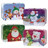 "Christmas Mini Tin ""Lunch Boxes"" with Handles"