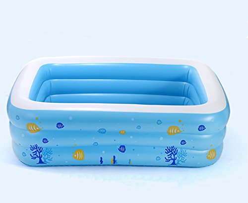 Fairy Baby Inflatable Baby Summer Outdoor Swimming Pool Plastic Blue,103.1'' X 68.9'' X 23.6'' by Fairy Baby