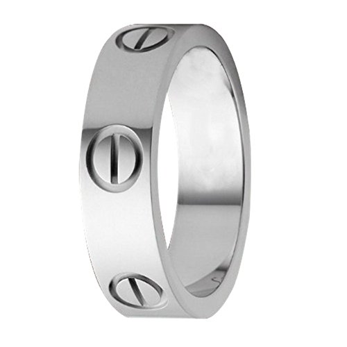 FHMZ Love Ring-Silve Lifetime Just Love You 6MM in Width Sizes 7 by FHMZ (Image #1)