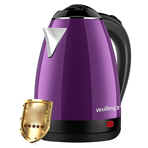 2000 Chassis - ZJⓇ kettle Electric Kettle Home 304 Stainless Steel Anti-hot Kettle Automatic Power Off Cordless Kettle Chassis Heating 1.8L 2000W [Blue Pink Purple ] Fast Boiling, Boil-Dry Protection ##