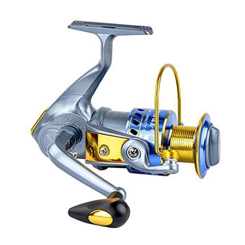 XBTECH Carrete Giratorio con 4 rodamientos adecuados para la Pesca en el mar. Carrete de Pesca Potente. Pesca Exterior Brazo Izquierdo/Derecho Intercambiable,4000 por XBTECH