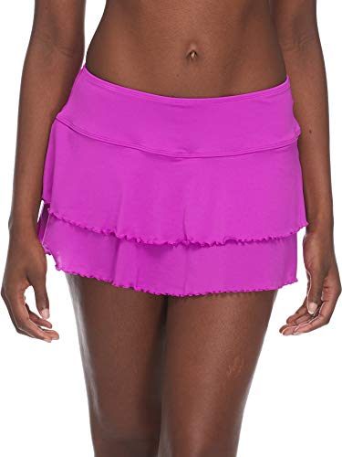 - Body Glove Women's Smoothies Lambada Solid Mesh Cover Up Skirt Swimsuit, Magnolia, Small