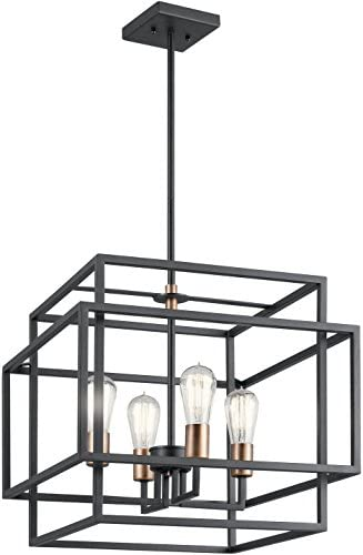 Kichler 43984BK Taubert 18 4-Light Pendant in Black
