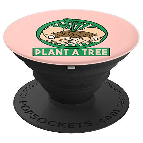 Everyday Is Earth-Day Pop-Socket Gift Idea Plant Tree Hand - PopSockets Grip and Stand for Phones and Tablets