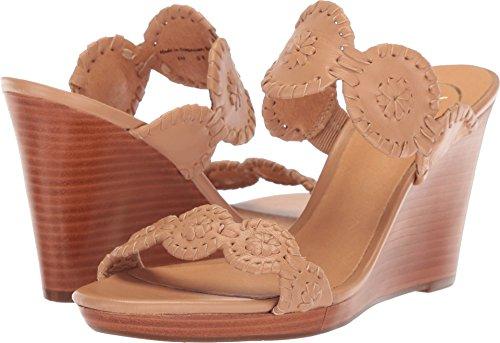 Jack Rogers Women's Luccia Wedge Sandal, Buff/Buff, 8 M (Wedge Jack)