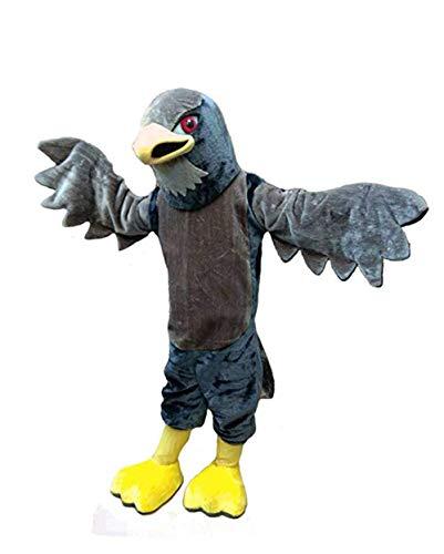 Hawk Falcon Eagle Mascot Costume Adult Halloween Costume Grey]()