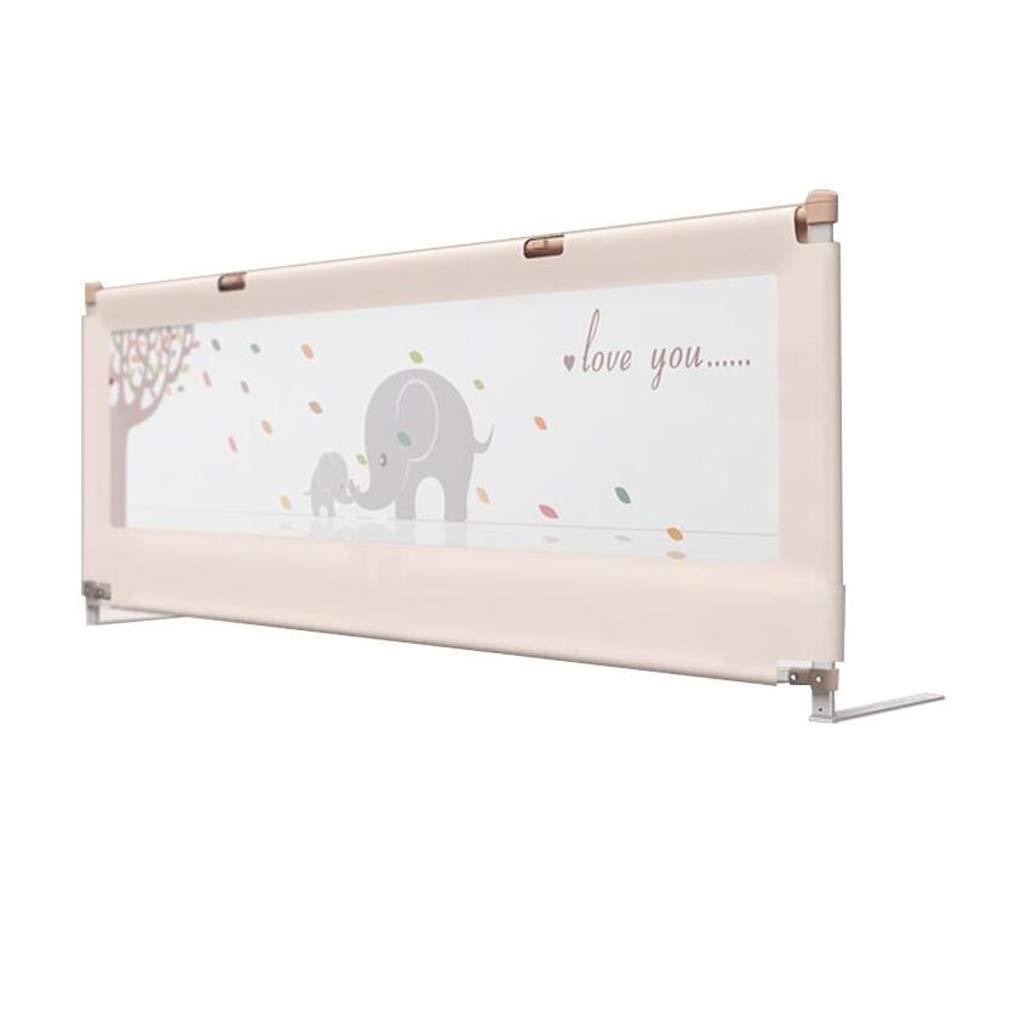 PENGJUN 子供のベッドのガードレールのベッドのバッフルの安全フェンスは1.5-2m調整することができます (色 : オフホワイト, サイズ さいず : 1.5m) 1.5m オフホワイト B07GZYW8VC