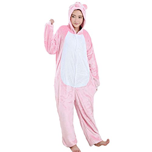 [TouteSporting Animal Costumes Onesie Unisex Pajamas Pig M] (Man Bear Pig Costume)