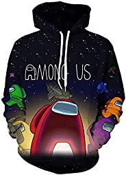 Among Us 3D Print Hoodie Sweatshirt Boy and Girl Long Sleeve With Pockets Funny Autumn and Winter Thicken Outw