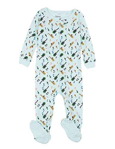 Leveret Kids Pajamas Baby Boys Girls Footed Pajamas Sleeper 100% Cotton (Instruments, Size 2 Toddler)