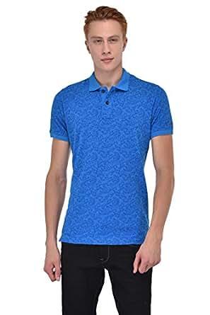 Sting Blue Shirt Neck T-Shirt For Men