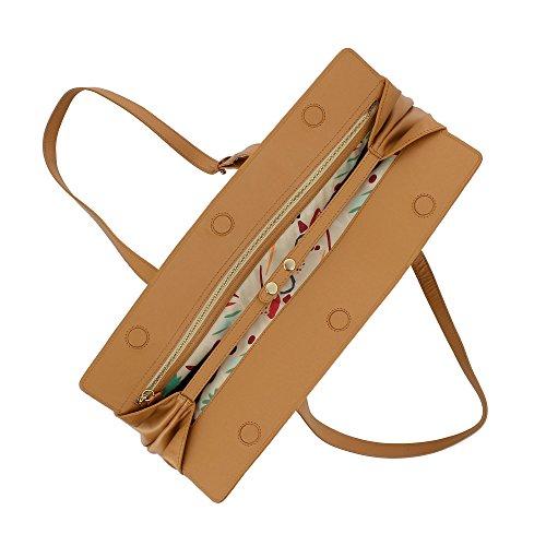 magnétique en cuir grande DUDU fermeture bandoulière ajustables poignées souple femme capacité Peau à et pour avec Élégant Sac qwafU