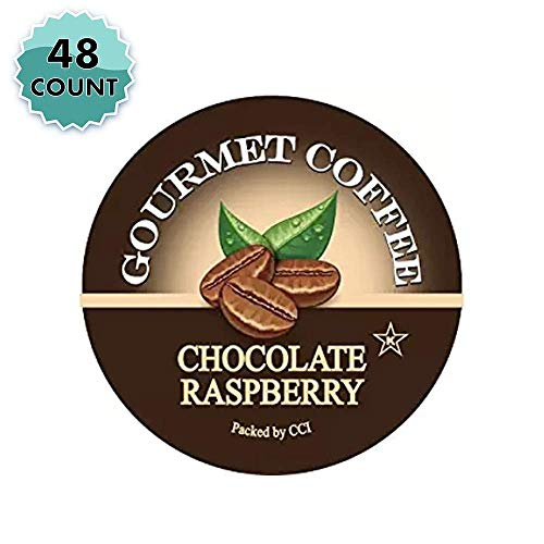 Smart Sips, Chocolate Raspberry Coffee, 48 Count, Single Serve Beverage Cups for Keurig K-Cup Brewers