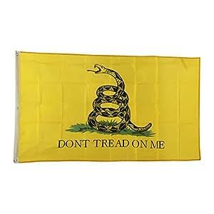 LEMO New Design 3'x5' Ft Gadsden Don't Tread On Me Yellow Flag CJ424