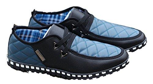 Ny Stil Menns Casual Sko Svart-blå