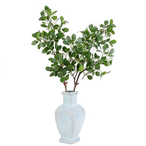cial Greenery Stems Artificial Palm Leaves Artificial Branch Eucalyptus Leaves Artificial Plants for Wedding Party Home Decoration ()