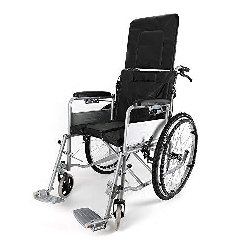 24 '' Adjustable Wheelchair Drum Brake Travel Wheelchair Weight Capacity 150kg