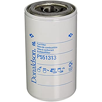 amazon com donaldson p551313 fuel filter, spin on, secondary