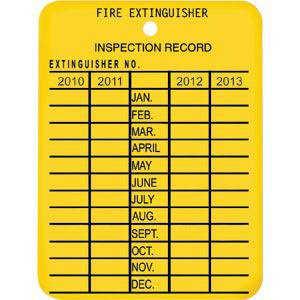 Plastic 4 Year Inspection Tag, 2016-2019 (Fire Inspection Tag)