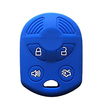 KAWIHEN Silicone Key Fob Cover Case Protector Smart Remote Control Shell Keyless Entry Case Holder Cover For Ford Lincoln Mercury OUCD6000022 164-R8046 164-R7040 CWTWB1U722: Automotive