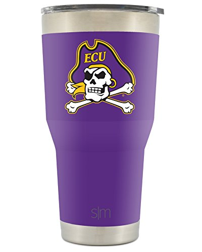 Pirate Cup (Simple Modern East Carolina University 30oz Cruiser Tumbler - Vacuum Insulated Stainless Steel Travel Mug - ECU Pirates Tailgating Hydro Cup College Flask)
