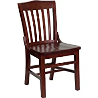 Commercial Quality School House Back Mahogany Wood Finish Restaurant Chair