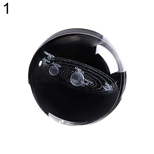 Glass Ball Stripe - 856store Solar System Artificial Crystal Ball Planet Glass Sphere Ornament Astronomy Gift