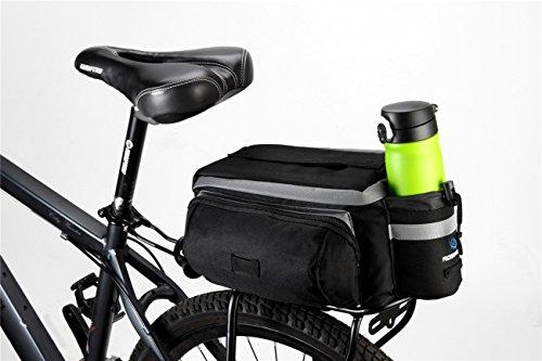 Bicycle Roswheel Rear Seat Trunk Bag Handbag Bag Pannier Black