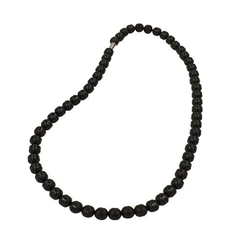 (EleeColorful Health Ion Tourmaline Beads Stretch Necklace Chain Balance w/Box/ (Black))