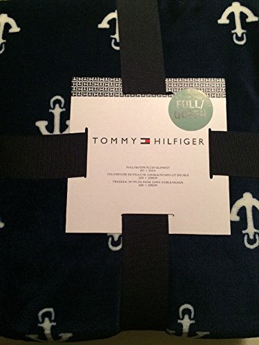 670fed3e Image Unavailable. Image not available for. Color: TOMMY HILFIGER  Full/Queen Anchors Plush Throw Blanket ...