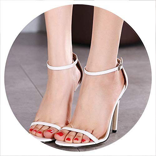 - Classics Sexy Women Red Wedding Shoes Peep Toe Stiletto High Heels Shoes Woman Sandals Black Red Nude Big Size 43 Us10,White,6