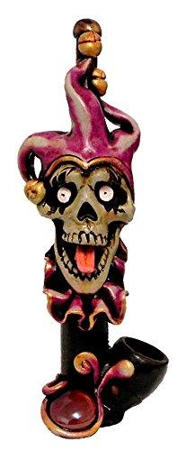 JCUNIVERSAL- Handmade Tobacco Smoking Pipe Skull Joker Sake Design