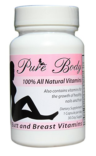 PureBody Vitamins - Butt Enlargement and Breast Enhancement Pills - All-in-One Formula - 30 Capsules (Best Breast Enhancement Pills Reviews)