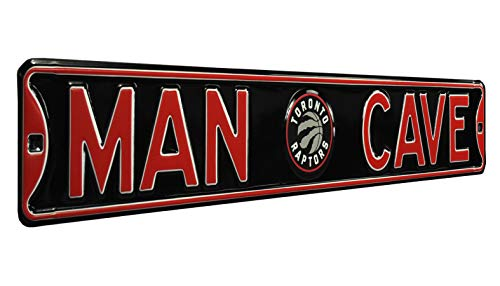 NBA Toronto Raptors Man Cave Heavy Duty Steel Street Sign, Large