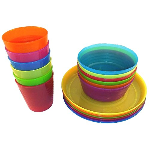 Bibs - Plastic Plates Bowls and Cups in 6 Bright Colors - Durable IKEA BPA Free  sc 1 st  Importitall & Bibs - Plastic Plates Bowls and Cups in 6 Bright Colors - - Import ...