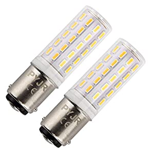 Ba15D 5W Led Bulb 220V, PYRJIN Sbc B15 Small Bayonet, 45W Halogen Replacement, Warm White 3000K, Non-dimmable for Sewing…