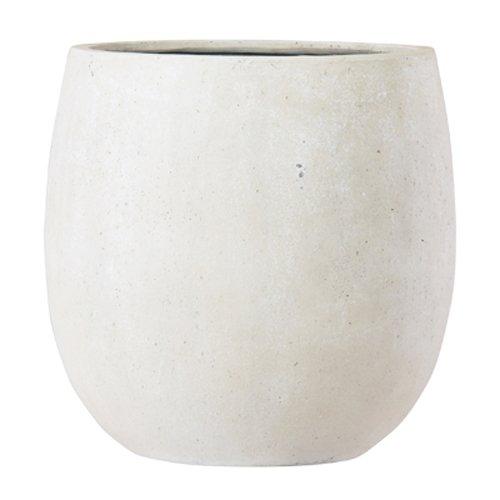 グラスファイバー製 軽量植木鉢 テラニアス バルーン アンティークホワイト 55cm 大型植木鉢 B06ZZHSJNN アンティークホワイト 55cm