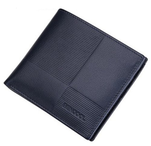 Pocket Fashion Case Slim ID Billfold Front Card Blue Wallet BININBOX Coin Purse Men p4TP1xwBEq
