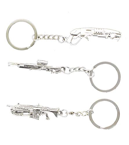 Gears of War 4 Pewter 3D Weapon Key Rings, Set of 3 in Collector's Tin (Gears Of War 4 Best Weapons)