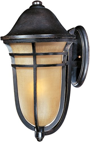 Maxim 40104MCAT Westport VX 1-Light Outdoor Wall Lantern, Artesian Bronze Finish, Mocha Cloud Glass, MB Incandescent Incandescent Bulb , 50W Max., Damp Safety Rating, 2900K Color Temp, Standard Dimmable, Glass Shade Material, 5200 Rated Lumens