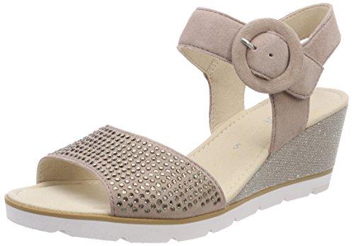 Gabor Shoes Gabor Basic, Sandales Bride Cheville Femme Multicolore (Antikrosa)