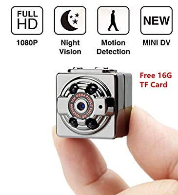 Mini Hidden Camera Spy Camera Portable Wireless Security Camera with Night Vision/Motion detection/HD 1080P Cam for Home Office Warehouse Travelling by CPP