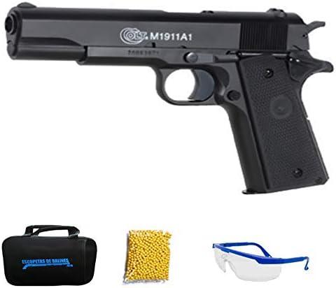 M1911 A1 HPA CYBERGUN Colt Pistola de Airsoft Calibre 6mm (Arma Aire Suave de Bolas de plástico o PVC). Sistema: Muelle. <3,5J