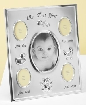 First Impressions Baby Boy or Girl Milestone Frame